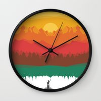 Layers Of Nature Wall Clock