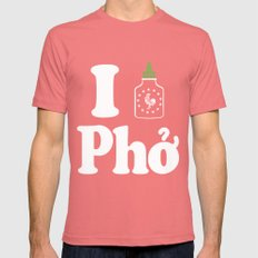 I Heart Pho Mens Fitted Tee SMALL Pomegranate