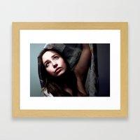 Scarf girl Framed Art Print