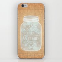 True Beauty Comes From W… iPhone & iPod Skin