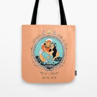 Mermaid And Fisherman Tote Bag