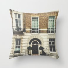London Facade  Throw Pillow