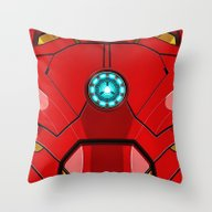 Throw Pillow featuring IRON MAN Iron Man Body A… by Aleha