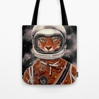 Tiger Astronaut Tote Bag