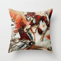 Cat Vs. Robot Throw Pillow
