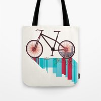 Discover Hong Kong Bicycle Tote Bag