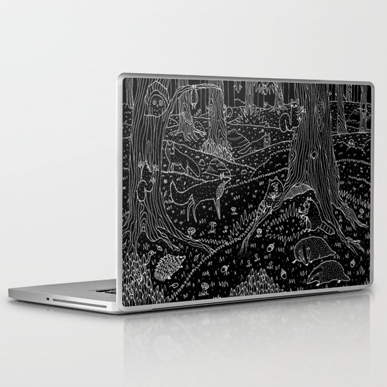 Nocturnal Animals of the Forest Laptop & iPad Skin