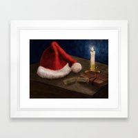 The List Is Done - Drawi… Framed Art Print