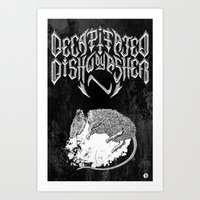 Decapitated by dishwasher II (black) Art Print