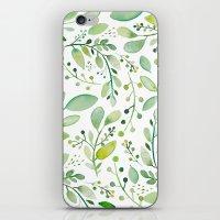 watercolor foliage iPhone & iPod Skin