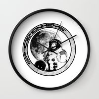 Space Monkeys Black & Wh… Wall Clock