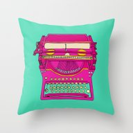Typewriting // Retro Throw Pillow