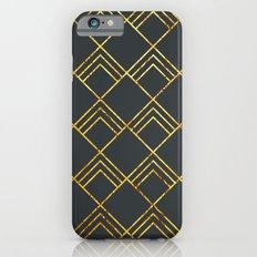 Diamond Art Deco; - Black & Gold  Slim Case iPhone 6s