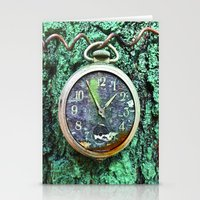 Green Time Stationery Cards