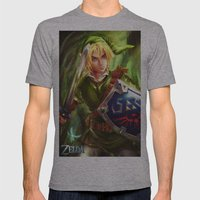 Link - Legend of Zelda Mens Fitted Tee Athletic Grey SMALL