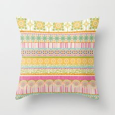 Candy Stripes Throw Pillow