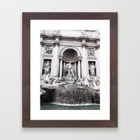 I wished for happiness - trevi fountain Framed Art Print