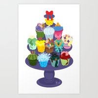 The Princess Cupcake Collection II Art Print