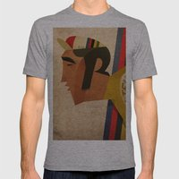 Eddy Mens Fitted Tee Athletic Grey SMALL