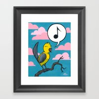 Songbird Framed Art Print