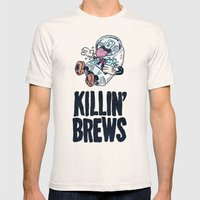 Killin' Brews Mens Fitted Tee Natural SMALL