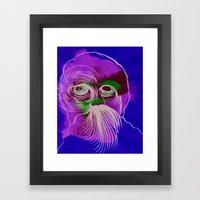 Face Illustration 11 Framed Art Print