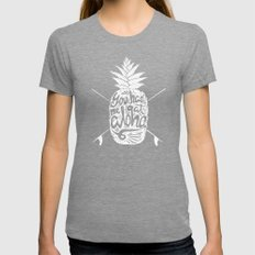 You had me at Aloha! Womens Fitted Tee Tri-Grey SMALL