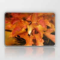 Burnt Orange Leaves Laptop & iPad Skin