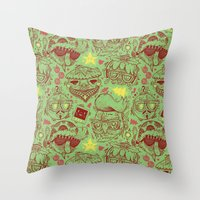 Have a Hipster Christmas! Throw Pillow