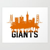 Drippy Orange San Francisco Giants Art Print