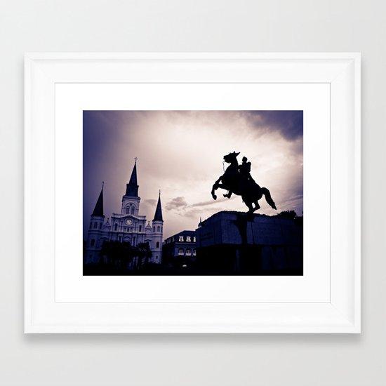 The rising south... Framed Art Print