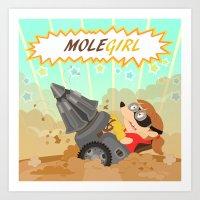 Molegirl Art Print
