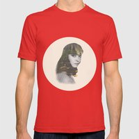 Anna Karina Nature Portrait Mens Fitted Tee Red SMALL