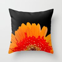 ORANGE GREETING Throw Pillow