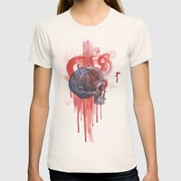 Bloody Skull Womens Fitted Tee Natural SMALL