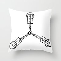 Back To The Future - Flu… Throw Pillow