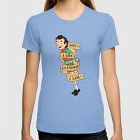 Bob Womens Fitted Tee Tri-Blue SMALL