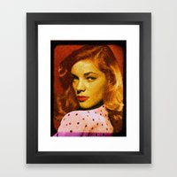Lauren Bacall  - 036 Framed Art Print