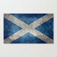 National Flag Of Scotlan… Canvas Print