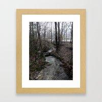 Stream. Framed Art Print