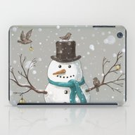 iPad Case featuring Christmas Snowman  by Terry Fan