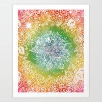 Rainbow Sherbet  Art Print