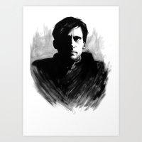 DARK COMEDIANS: Steve Ca… Art Print
