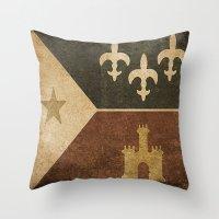 Acadian Flag Throw Pillow