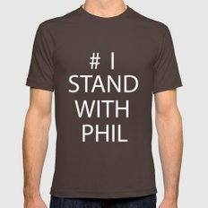 Stand With Phil Mens Fitted Tee Brown SMALL