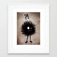 Evil Bug Wondering Framed Art Print