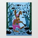 The Clarinet Bunny Canvas Print