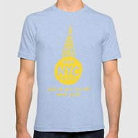 NYC Mens Fitted Tee Tri-Blue SMALL