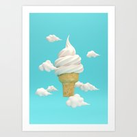 Big Ice Cream Art Print