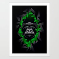 Shy Green Eyes Art Print